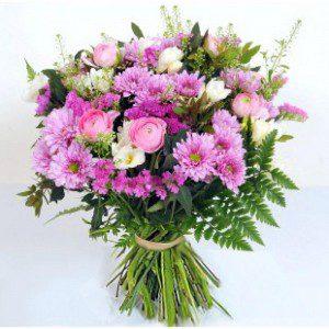 זר פרחים רומנטי - זר מתוק